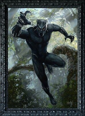 Original T'Challa Black Panther commissioned by Marvel Studios - by Dave Seeley