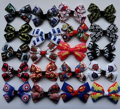 SUPER HERO /SCI FI / Character Hair Bow clip or bobble. Handmade in UK!