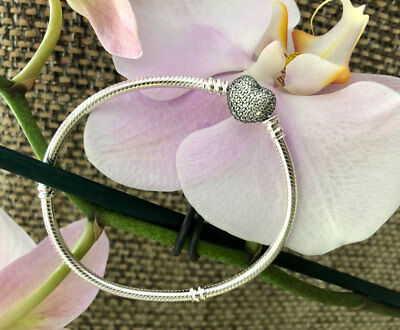 Pandora Pave Heart Bracelet Sterling Silver All Sizes Available #590727CZ