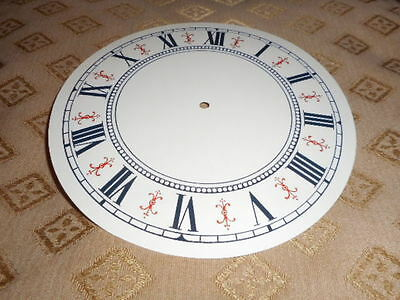 """Round Vienna Style Paper Clock Dial- 6 1/4"""" M/T- Cream Gloss- Face / Clock Parts"""