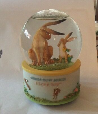 Guess How Much I Love You SAN FRANCISCO MUSIC Rabbit Nutbrown Hare Water Globe