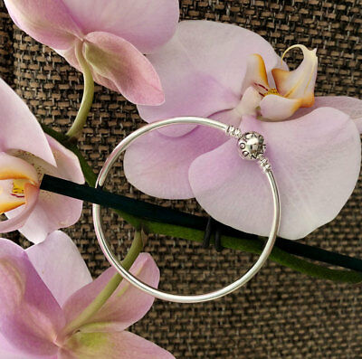 Pandora Bangle Bracelet, Sterling Silver, All Sizes Available #590713