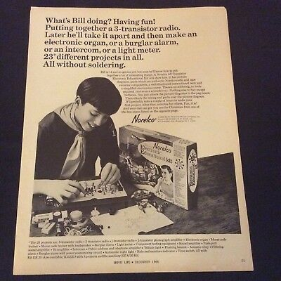1966 Norelco Print Ad-Electronic Educational Kit-Transister-Discover Electronics