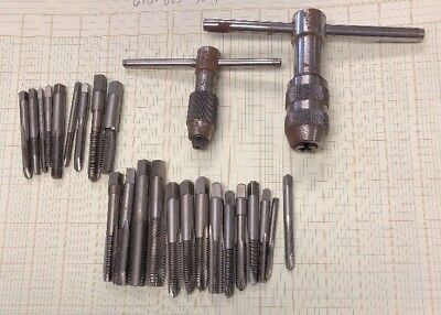 STARRETT NO 93C And B T HANDLE TAP WRENCH 25 Taps