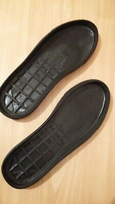 Pair of TPR soles (outsoles). Ideal for making knitted or felted slippers.