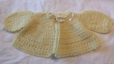 vintage baby crochet sweater 0 to 3 months lot of 3