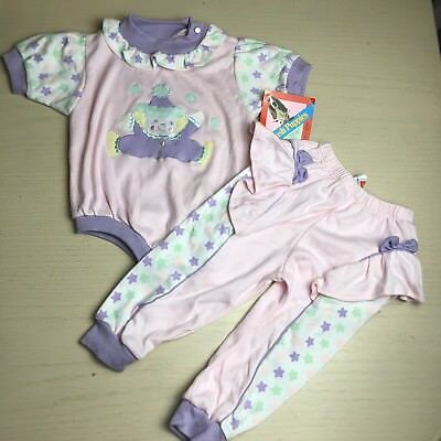 Nwt Vintage Hush Puppie Clown Outfit 18 Months Deadstock Pastel Stars Pants Top
