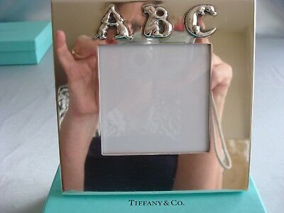 TIFFANY sterling silver ~ 'ABC'  PICTURE FRAME ~ ADORABLE!