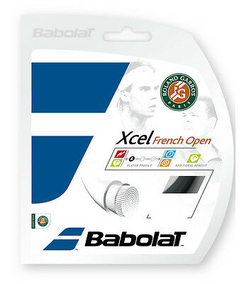 Babolat Xcel FO 12m Set String GAUGE 16/1.30 made in France Black