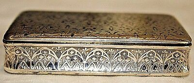 Antique French Silver Hallmarked Snuff Box