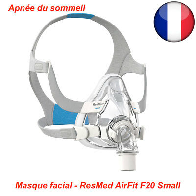 Masque facial ResMed AirFit F20 Small, Medium ou Large