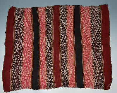 Fine  Vintage  Peruvian manta cloth Panel