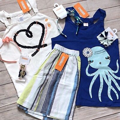 Girls New Gymboree Sz 10 Spring Summer Matching Outfits Set / Accessory Lot NWT