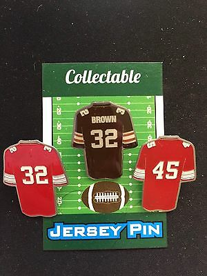 Ohio State Buckeyes/Cleveland Browns lapel pins-OHIO Legends Collectables-(3)