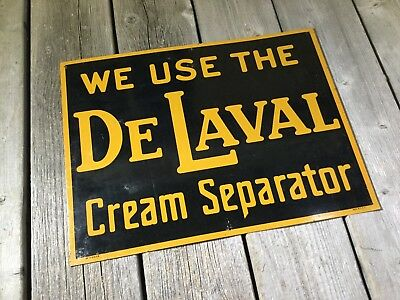 Vintage Sign De Laval Cream Separator Made In Usa Vgc No S-69-39 Steel Tin Sign