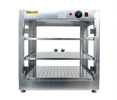 """Commercial 24""""x24""""x24"""" Counter top Food Pizza Pastry Warmer Wide Display Case P"""