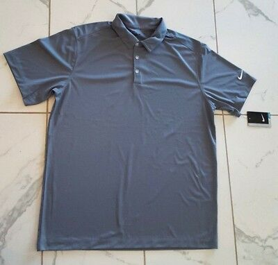 1f4d26b94 NWT Nike Golf Men s Dri-Fit Solid Polo Shirt Cool Gray 637167 065 NEW MSRP