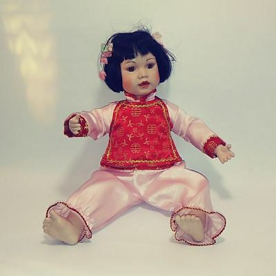 """Vintage MBI Traditional Chinese Doll Danbury Mint 1992 16"""""""