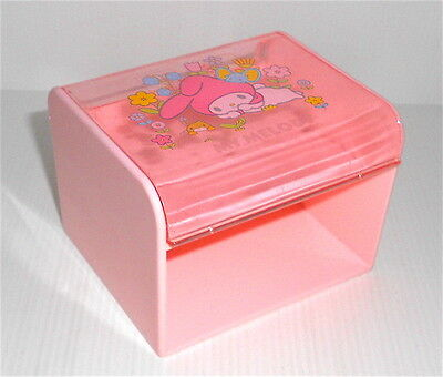MY MELODY 1976 Sanrio Japan vintage pocket chest - scrigno rosa not full