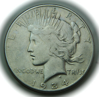 1934-S Peace Silver Dollar - $1 - No Reserve!