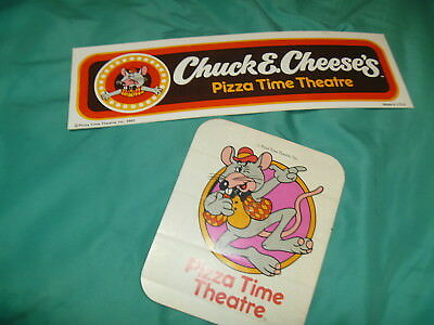 2 Vintage 1981 Chuck E Cheese Stickers Bumber Pizza Time Theatre