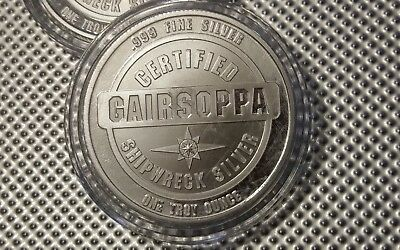 1oz S.S. Gairsoppa Shipwreck Certified Silver Round in capsule