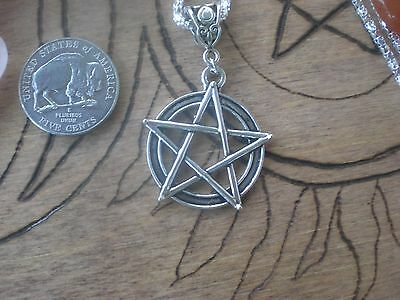 Witch Pentagram Necklace Silver