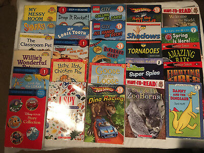 BOYS Lot LEVEL 1 lot of 26 HELLO READER Scholastic STEP INTO READING Ready Read