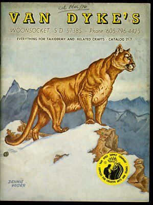 VAN DYKE'S EVERYTHING FOR TAXIDERMY AND RELATED CRAFTS CATALOG 1975 Crafts