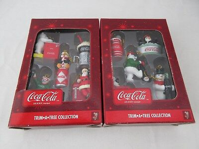 5 Miniature Christmas Ornaments COCA COLA Trim-A-Tree Collections Lot of 2