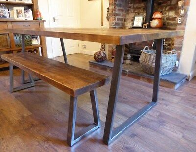 Industrial Style Dining Table Vintage Rustic Furniture Solid Wood Farmhouse  Room