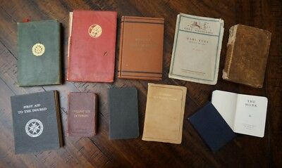 Lot of 10 Antique and Collector Small Pocket Books - L@@K