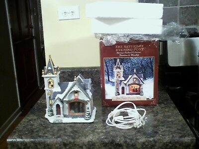 """Norman Rockwell """"Freedom To Worship"""" Lighted Porcelain House"""