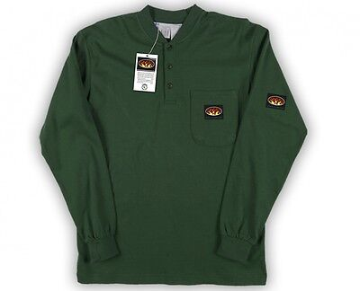 Rasco FR Green  Henley  Long sleeve T-Shirt  NWT