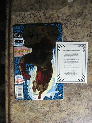 Iron Man  No.300 Signed W/coa  Signed Comic Auction Going On Now