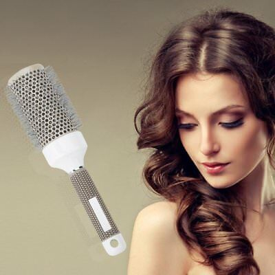 53mm Hair Brush Nano Thermal Ceramic Ionic Round Barrel Comb Styling Brush