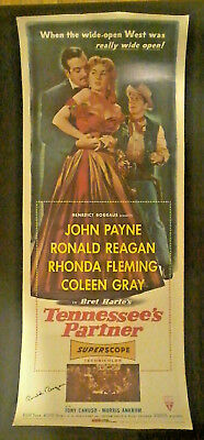 Ronald Reagan TENNESSEE'S PARTNER original 1955 movie poste Signed