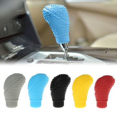 Car Auto Silicone Gear Shift Knob Manual Nonslip Lever Shifter Knobs Case Cover