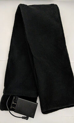 Black Battery Operated Heated Fleece Scarf Soft Warm Heating Neck Unisex 60 in