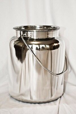 10 Qt Stainless Steel Milk Can Tote(2-1/2 Gal) New Other