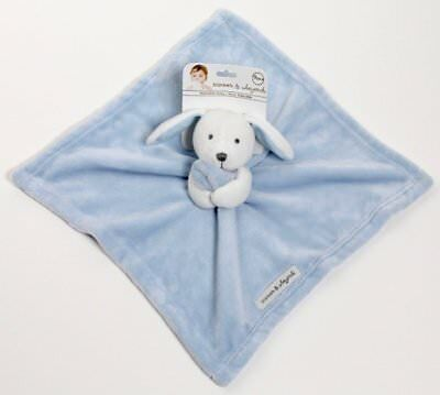 NWT Blankets & Beyond Blue White Bunny Nunu Lovey Plush Security Blanket