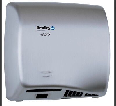 BRADLEY AERIX ELECTRIC HAND DRYER MODEL 2902-287400 NIB Brushed Stainless Steel