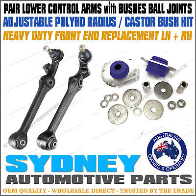 Front Lower Control Arms With Castor Rod Bush Kit For Commodore VT2 VU VX VY VZ