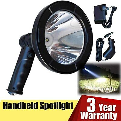 LED 55000Lumen 500W Rechargeable Spotlight Hunting Hand Held Torch Spot Light AU