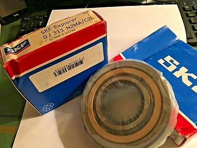 SKF QJ 311 N2MA/C2L QJ Series Four-Point Contact Bearing - 55 mm Bore, 120 mm OD