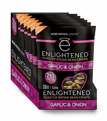 Enlightened Plant Protein Gluten Free Roasted Broad (Fava) Bean Snack, Garlic &