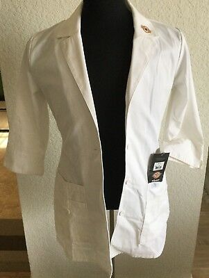 NWT Dickies Women's Junior Fit Small  EDS Professional Whites Lab Coat #82402