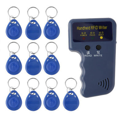 125KHz Handheld RFID Writer/Copier/Readers/Duplicator With 10 Pieces ID Tags