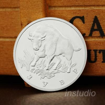 Russia Coins Wild Ox Coins 1993 Rare Animal Protection Currency Collection Coin