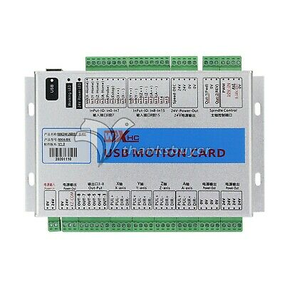 Mach4 CNC 4 Axis Motion Control Card USB 2MHz Breakout Board for Machine New